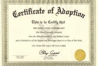 Adoption Certificate Template 11
