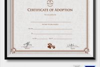 Adoption Certificate Template 6