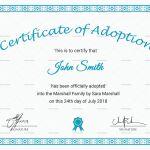 Adoption Certificate Template