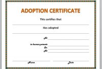 Adoption Certificate Template 9
