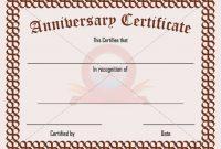 Anniversary Certificate Template Free 3