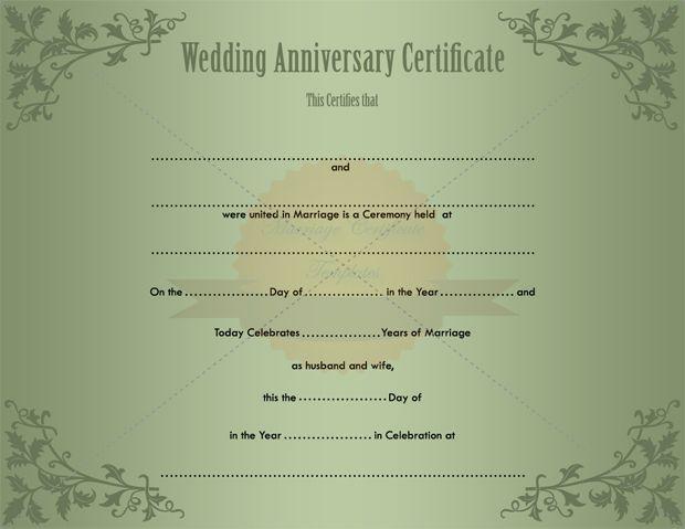 Anniversary Certificate Template Free 4