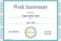 Anniversary Certificate Template Free 6
