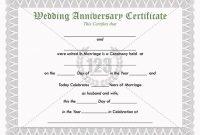 Anniversary Certificate Template Free 7