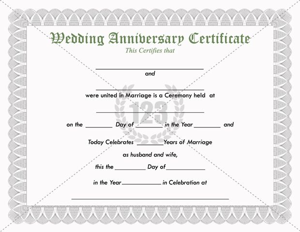 Anniversary Certificate Template Free 7
