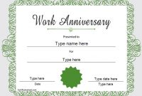 Anniversary Certificate Template Free 8