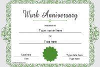 Anniversary Certificate Template Free 8