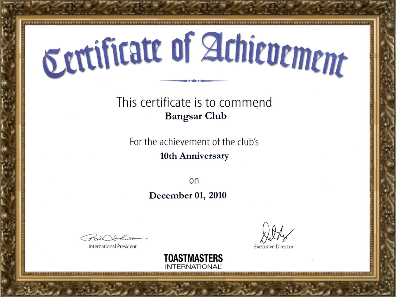 Anniversary Certificate Template Free 9