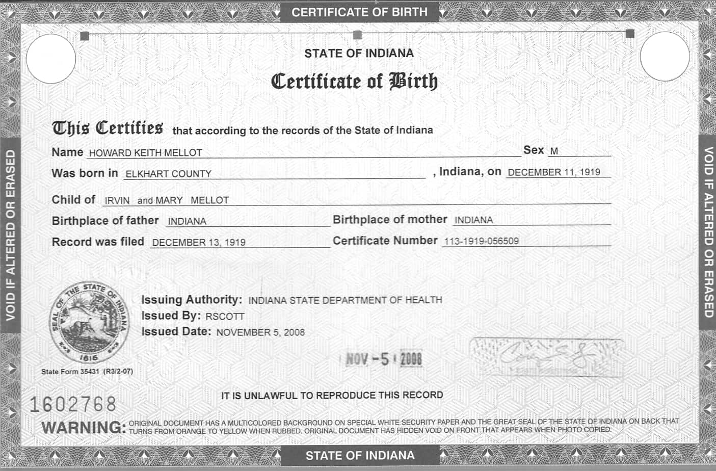 Birth Certificate Templates For Word 3