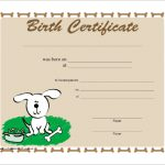 Birth Certificate Templates for Word