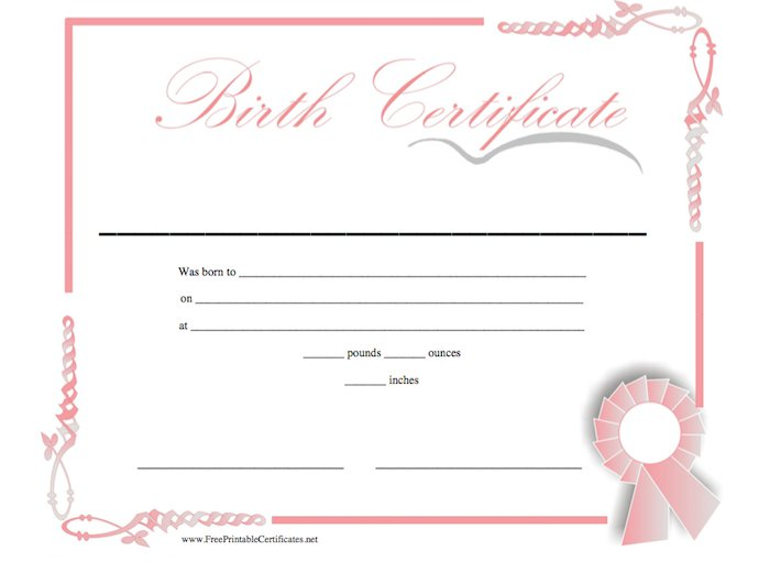 Birth Certificate Templates For Word 9