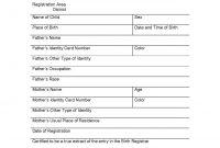 Birth Certificate Translation Template 3