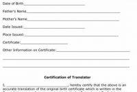 Birth Certificate Translation Template 6