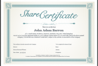 Blank Share Certificate Template Free 11