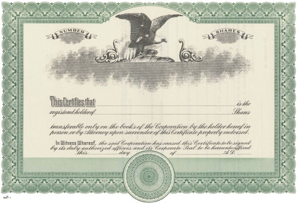 Blank Share Certificate Template Free 5