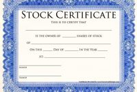 Blank Share Certificate Template Free 6