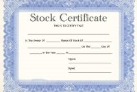 Blank Share Certificate Template Free 9