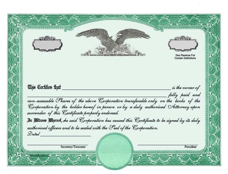 Blank Share Certificate Template Freev 3