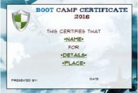 Boot Camp Certificate Template 0
