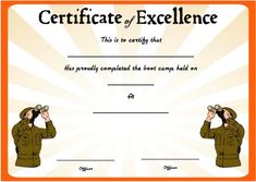 Boot Camp Certificate Template 11