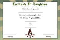Boot Camp Certificate Template 3