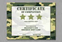 Boot Camp Certificate Template 4