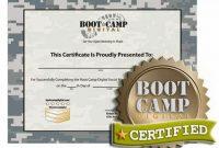 Boot Camp Certificate Template 6