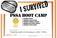 Boot Camp Certificate Template 8
