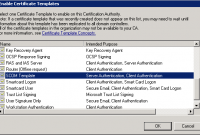 Certificate Authority Templates 6
