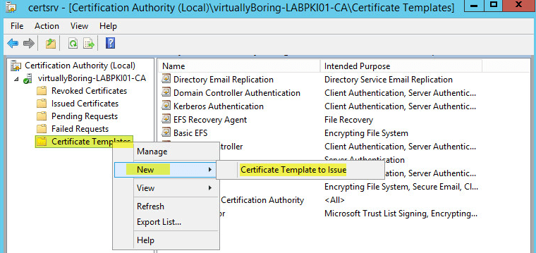 Certificate Authority Templates3