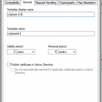 Certificate Authority Templates