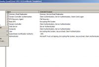 Certificate Authority Templates7