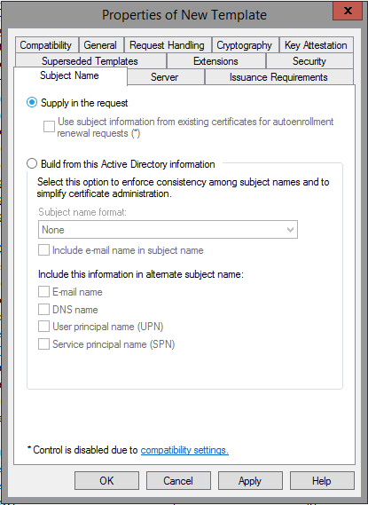 Certificate Authority Templates8