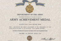 Certificate Of Achievement Army Template 11