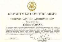 Certificate Of Achievement Army Template 3