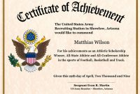 Certificate Of Achievement Army Template 4