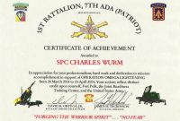 Certificate Of Achievement Army Template 7