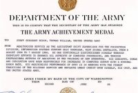 Certificate Of Achievement Army Template 8