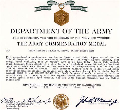 Certificate Of Achievement Army Template 9