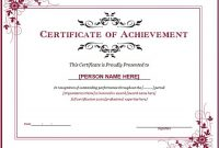 Certificate Of Achievement Template Word 10