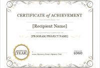 Certificate Of Achievement Template Word 3
