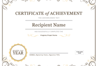 Certificate Of Achievement Template Word 4