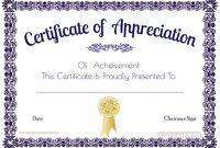 Certificate Of Appreciation Template Doc 11