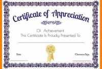 Certificate Of Appreciation Template Doc 2