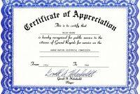 Certificate Of Appreciation Template Doc 3