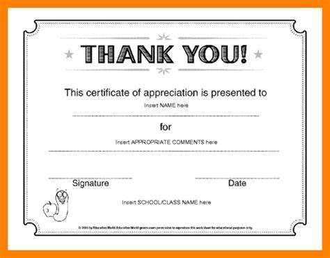 Certificate Of Appreciation Template Doc 4