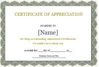 Certificate Of Appreciation Template Doc 5