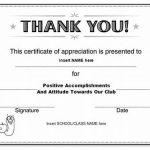 Certificate Of Appreciation Template Doc