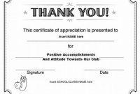 Certificate Of Appreciation Template Doc 7