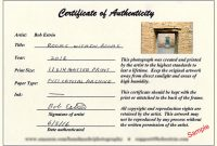 Certificate Of Authenticity Photography Template 7